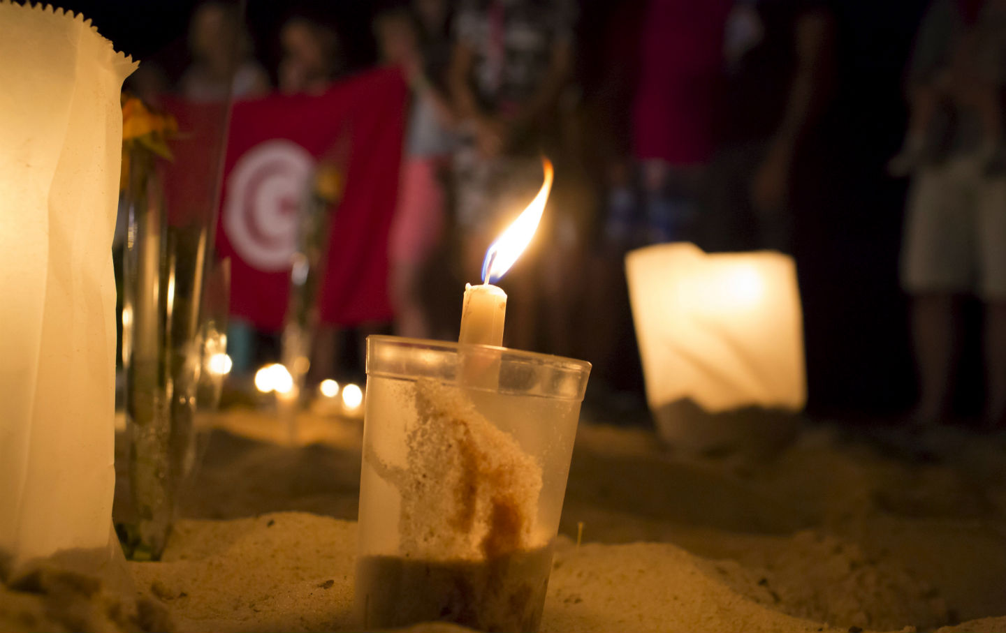 Vigil for beach resort attack in Tunisia.