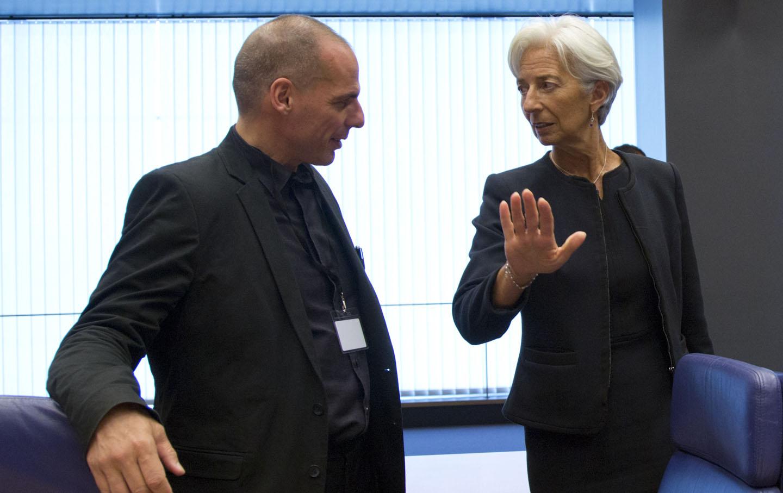 Yanis Varoufakis and Christine Lagarde