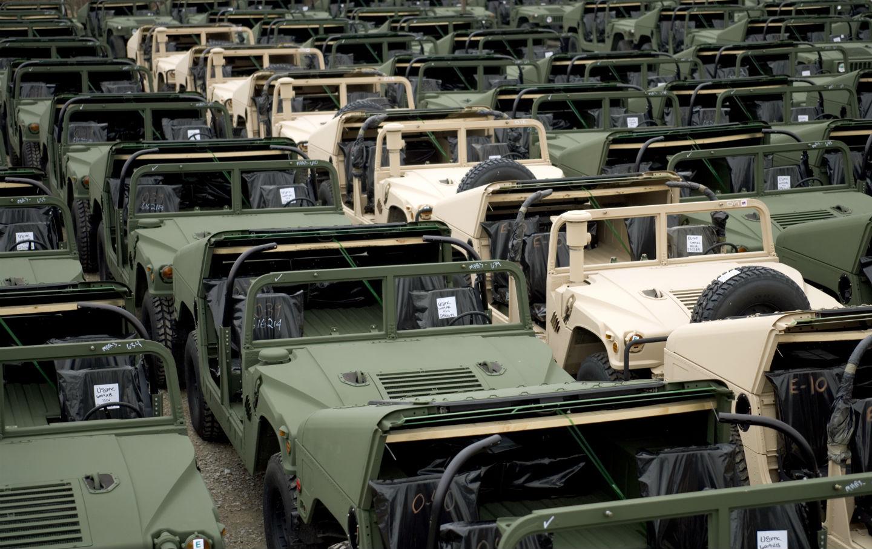 Army Humvees