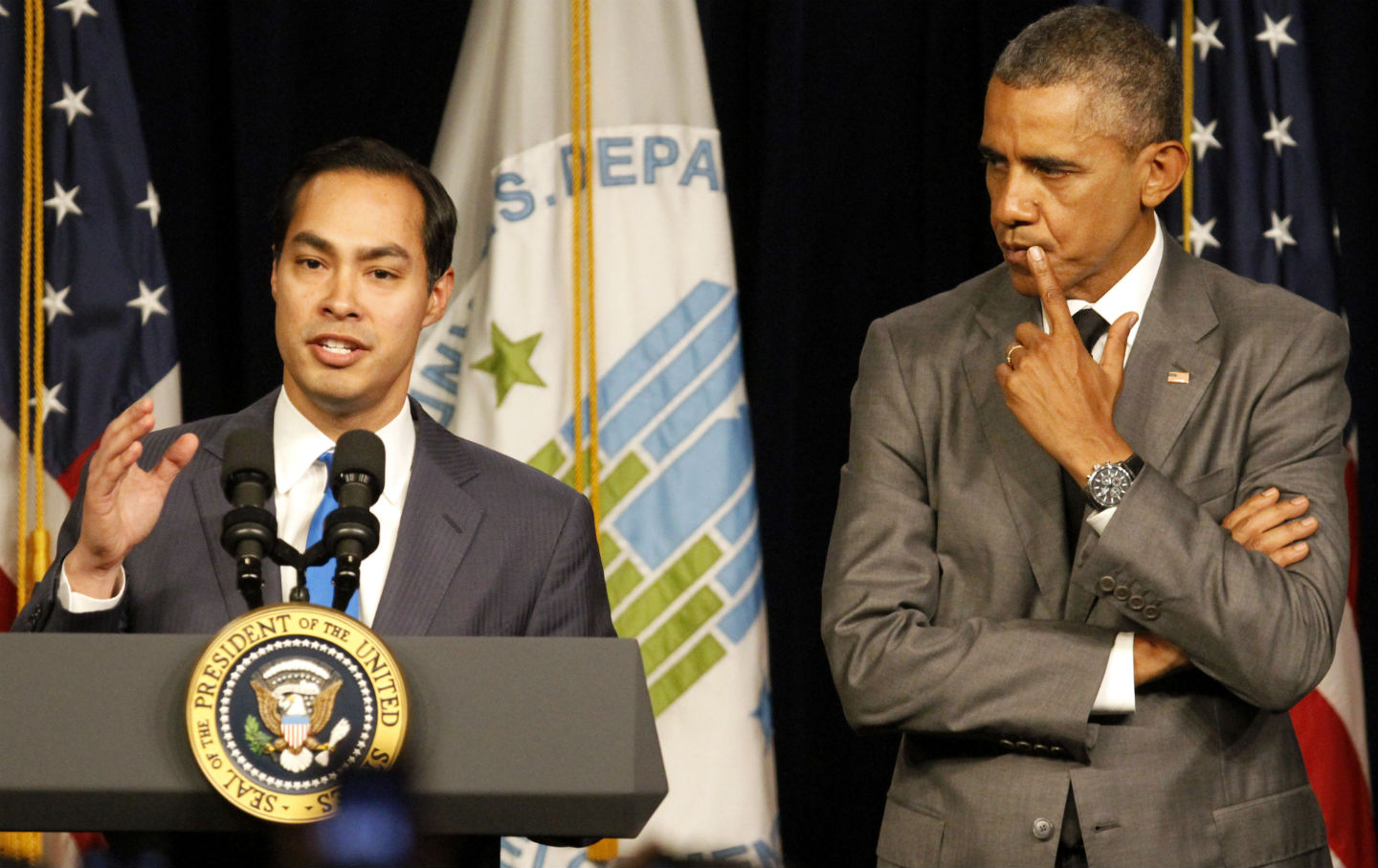 The Obama Administration Is Expanding a Program to Fix Up Public    Julian Castro and Barack Obama