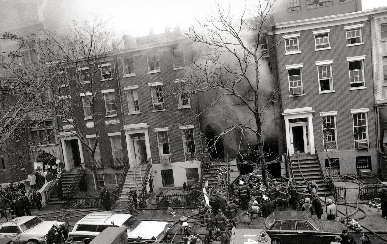 Bombed Greenwich Village Building