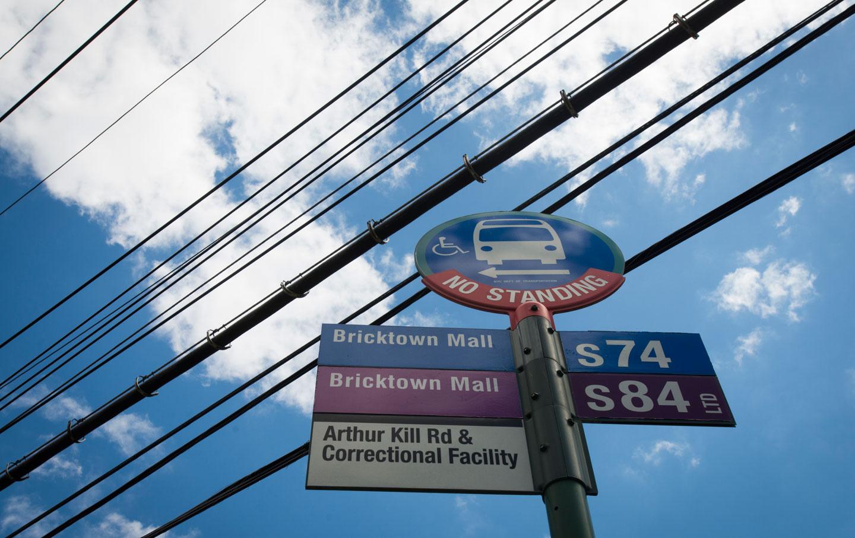 Arthur Kills bus stop