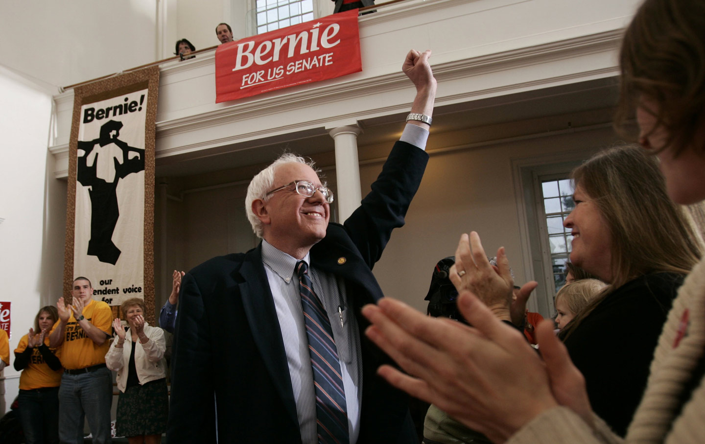 Bernie Sanders announces his candidacy for Senate in 2006.