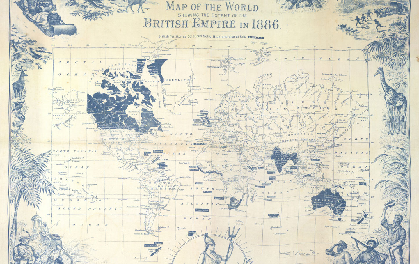 1886 Map of the British Empire
