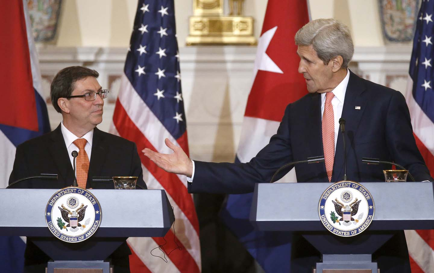 Bruno Rodriguez and John Kerry
