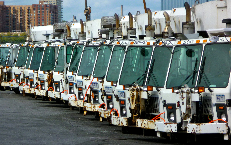 NYC garbage trucks