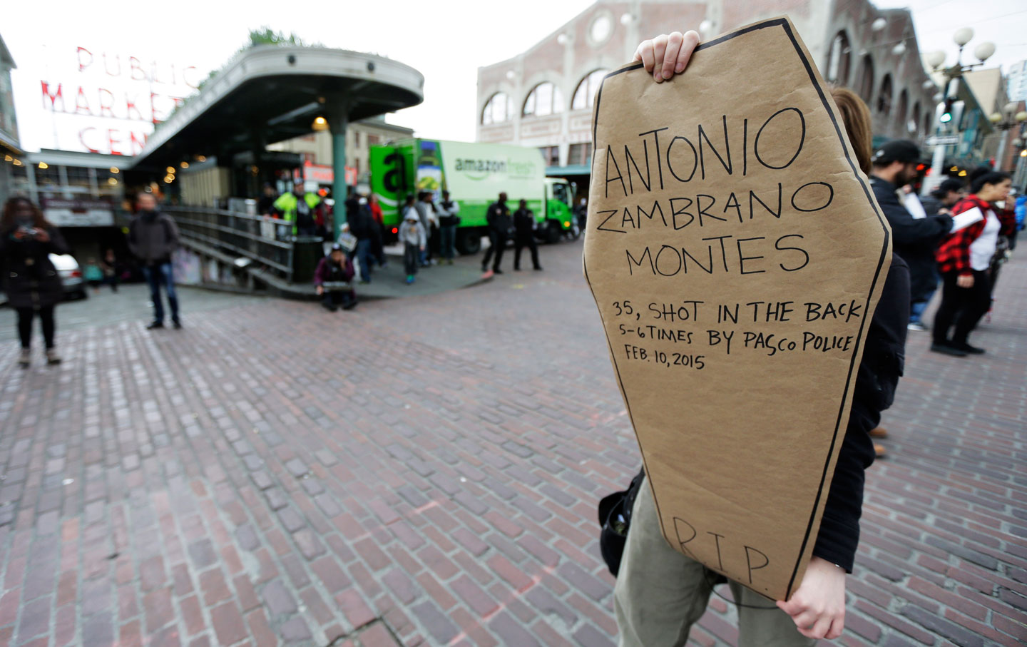 A protest against the death of Antonio Zambrano-Montes