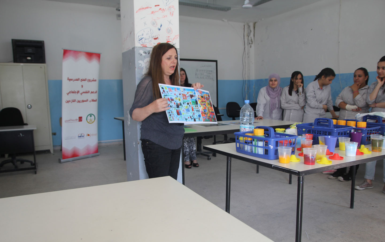 Anita Toutikian leading a class