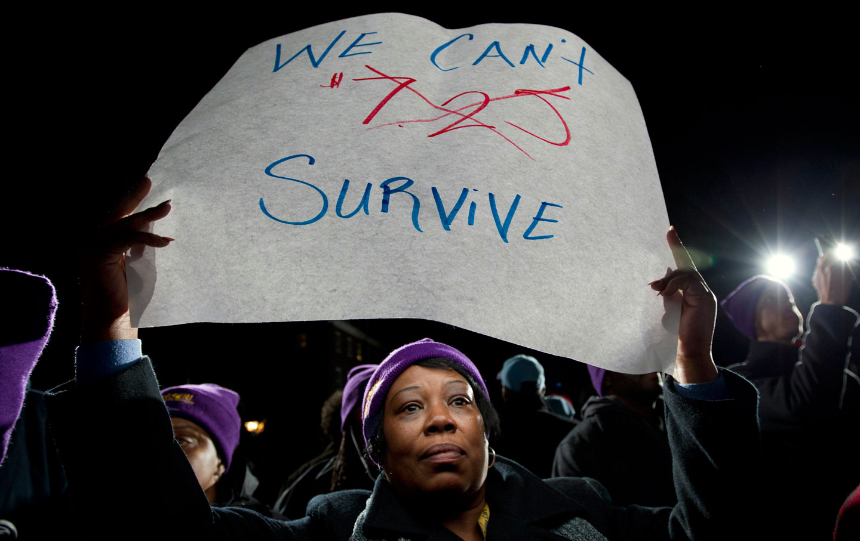 Minimum Wage Protester