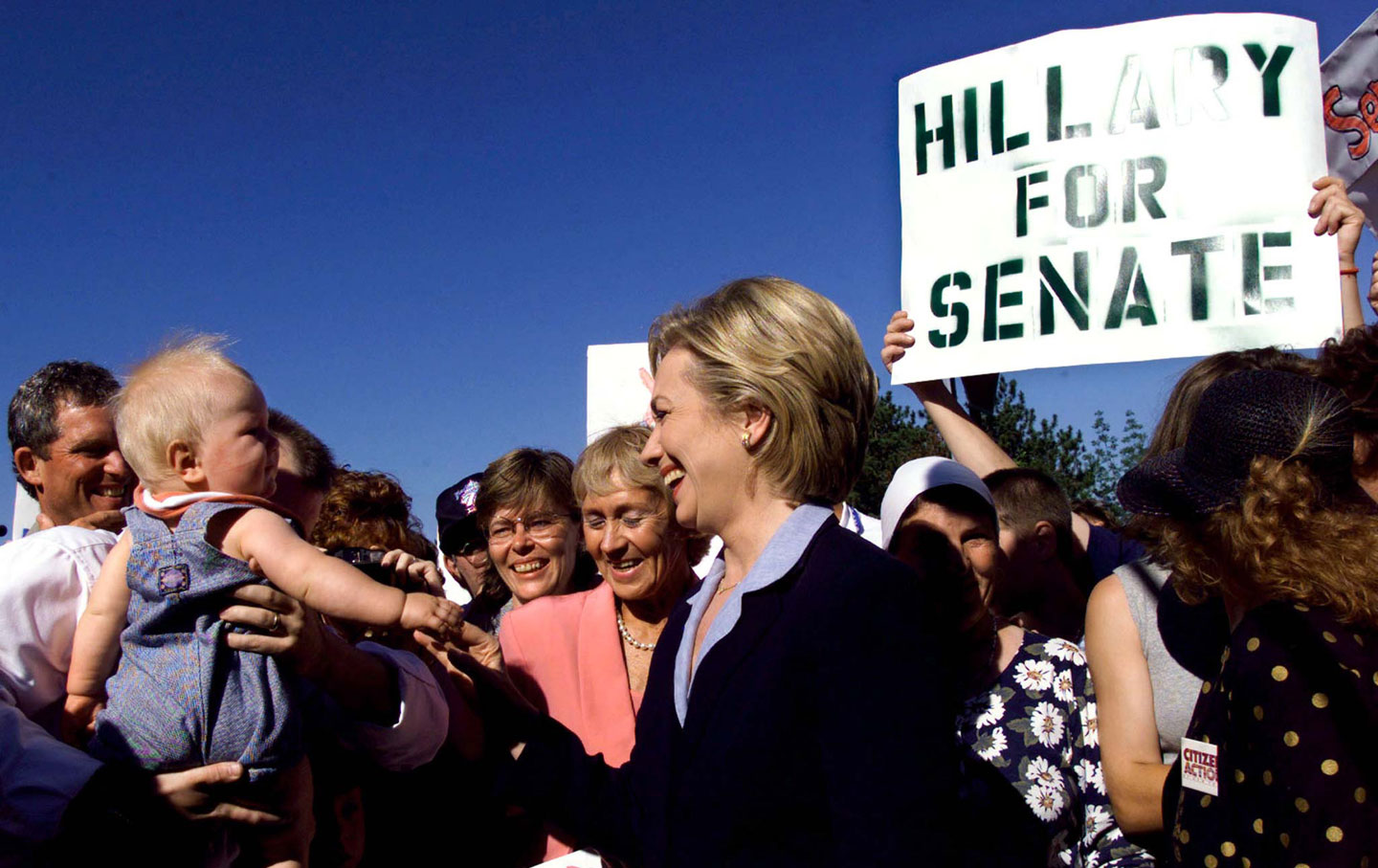 Hillary Clinton during her Senate campaign