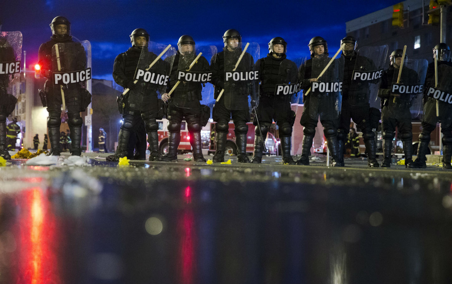 the biggest threat to american public safety is the american riot police in baltimore 2015 ap photo matt rourke