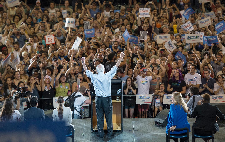 Sanders in Portland