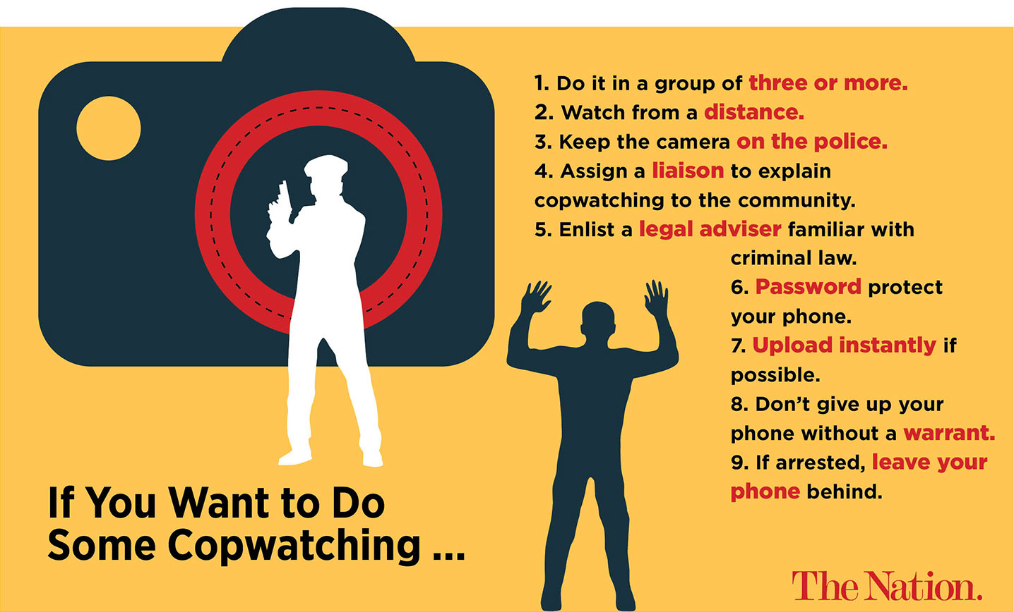 here s how to cop watch the nation often it s very local in your neighborhood just getting together as many people as possible to film the police
