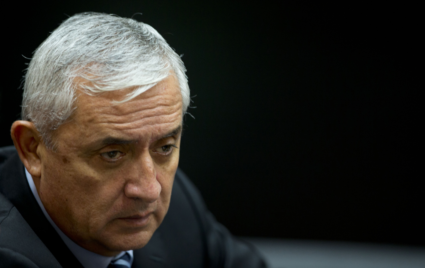 Otto Pérez Molina attends a corruption hearing, Sept. 8, 2015.