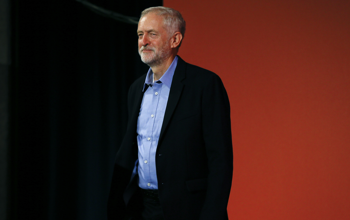 Jeremy Corbyn arrives at the Labour Party Leadership Conference.
