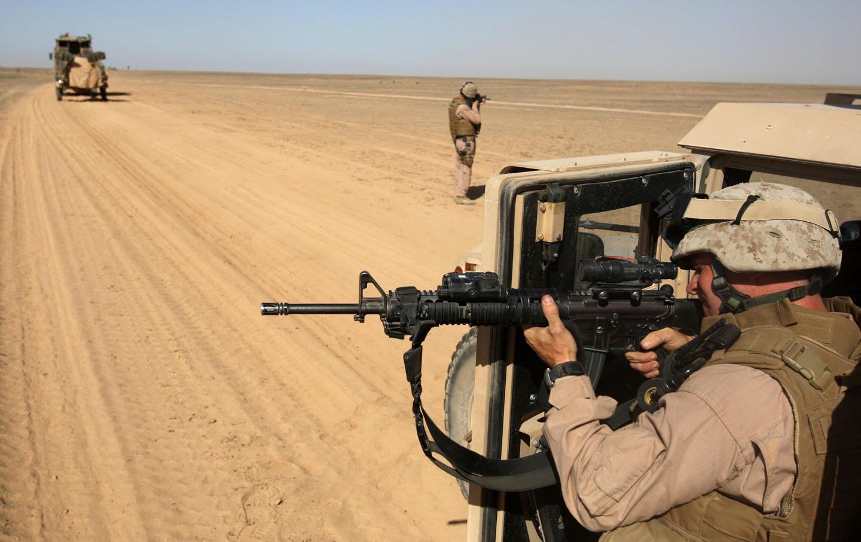 Marine convoy in Afghanistan