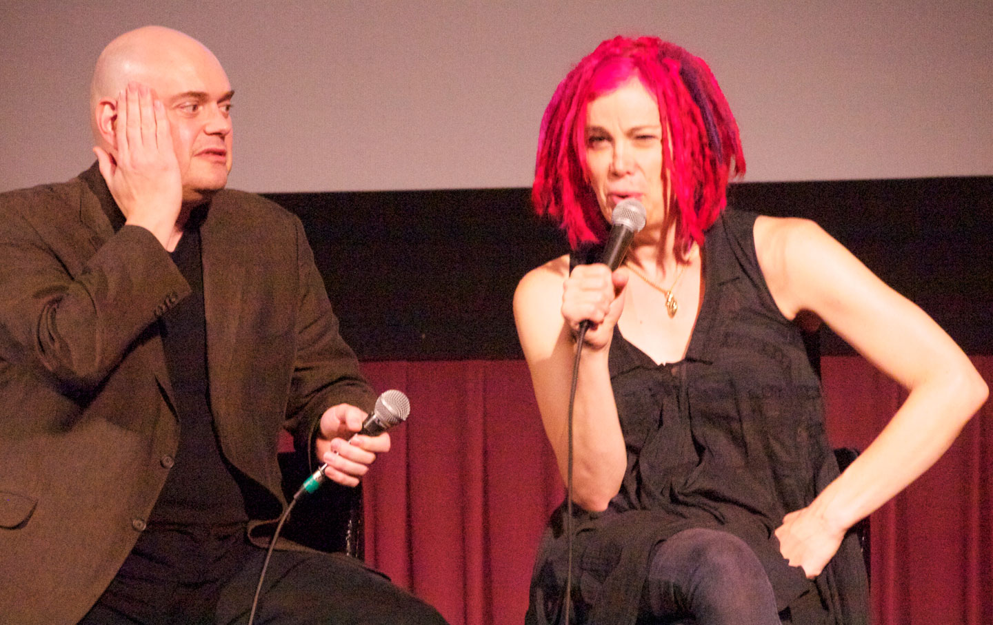 Andy and Lana Wachowski. (Credit: Wikimedia)