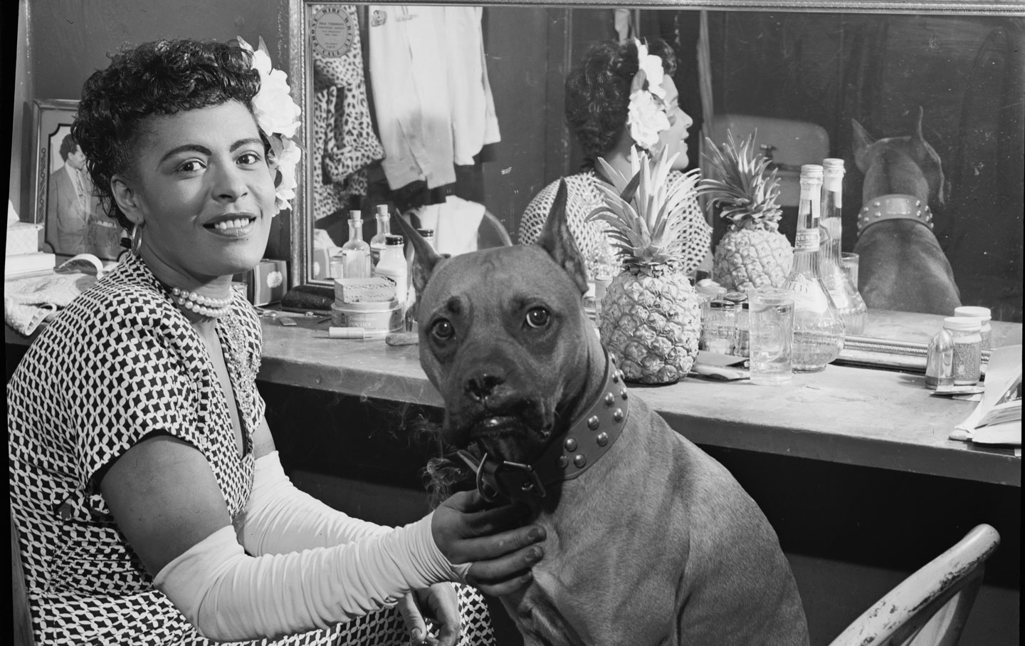 Billie Holiday and Mister, circa 1946. (Credit: William P. Gottlieb / LOC)