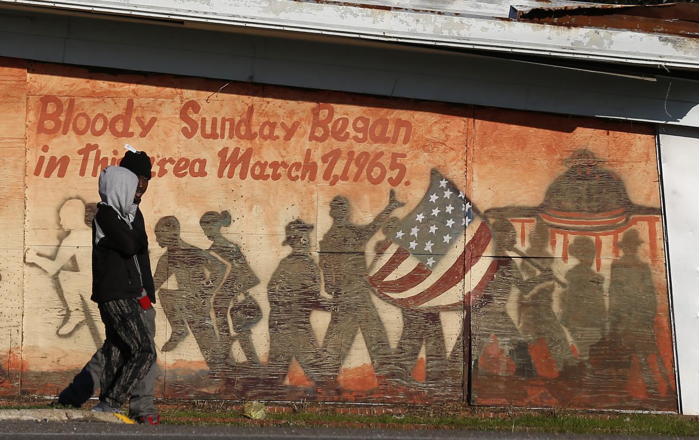 Bloody Sunday mural in Selma