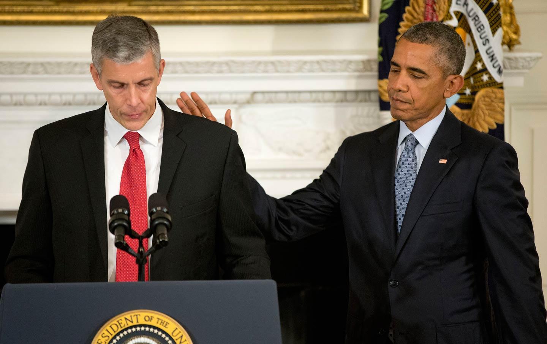 Arne Duncan and President Obama