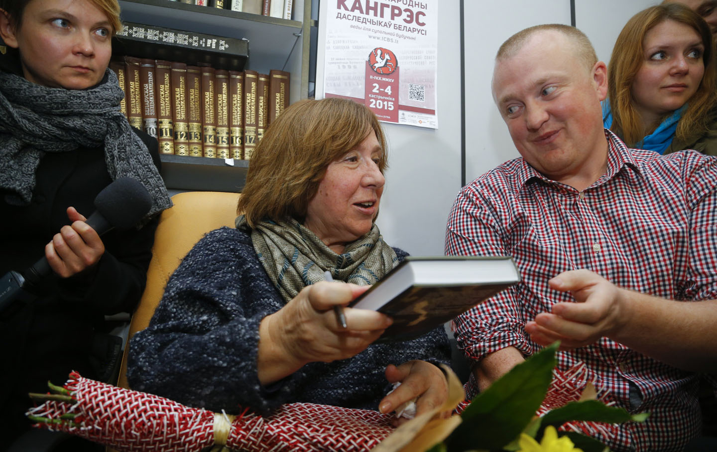 2015 Nobel Prize in Literature winner Svetlana Alexievich.