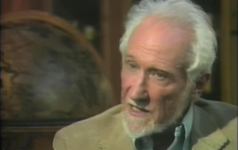 Sheldon Wolin speaks with Bill Moyers in 2008.