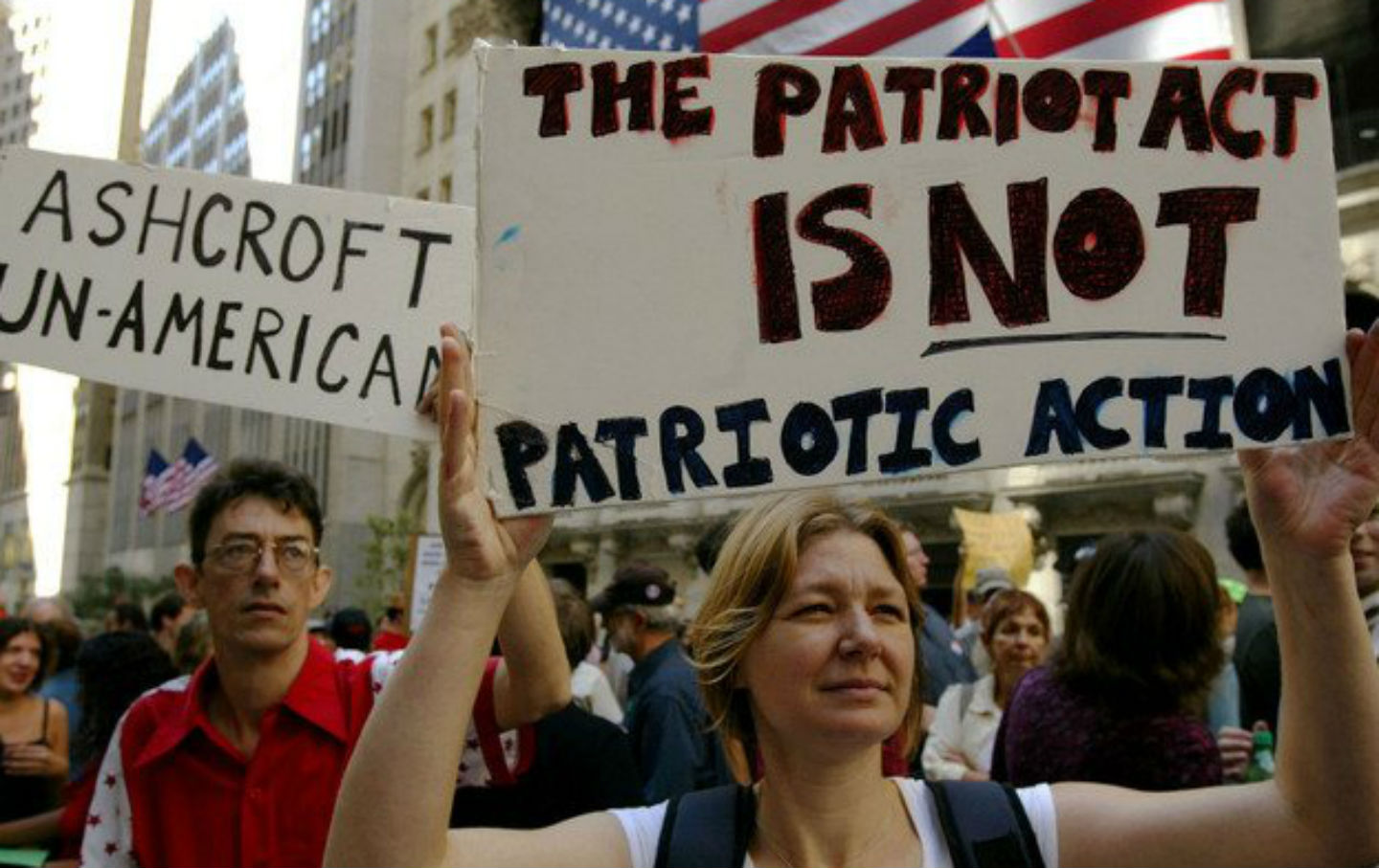 articles pertaining to the actual patriot act