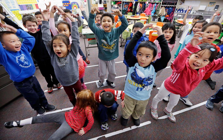 Vietnamese kindergarten students