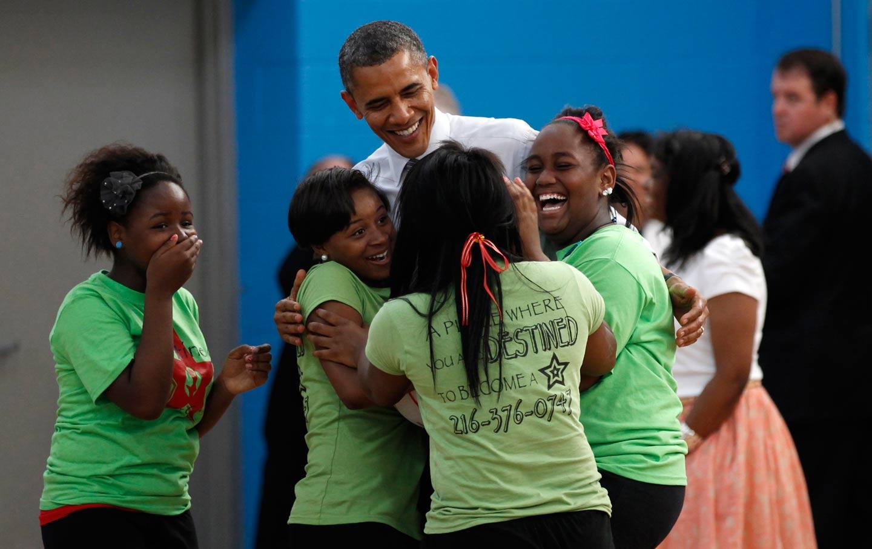 President Obama at Boys and Girls Club