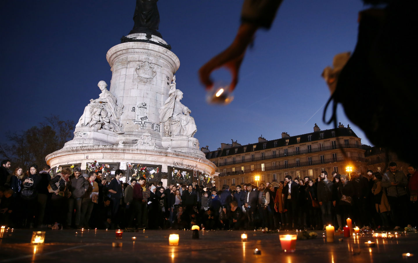 vigil in Place de la Republique