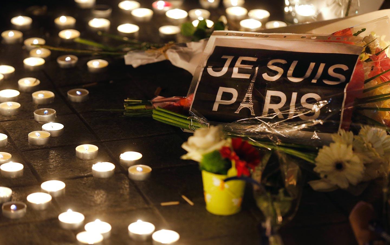 Flowers after shooting in Paris