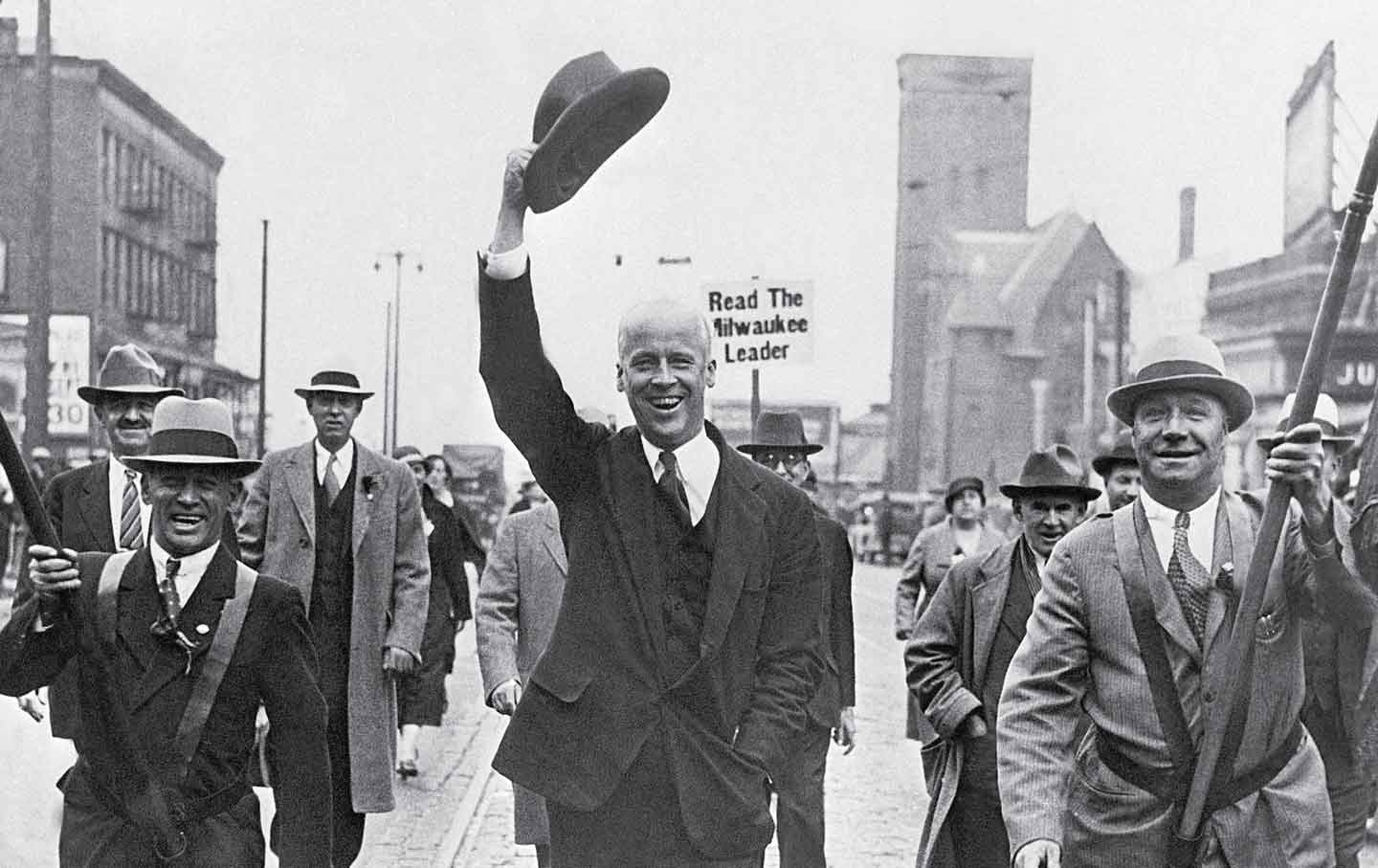 """FDR's """"good friend"""": Socialist Party presidential candidate Norman Thomas in Milwaukee, September 1932"""