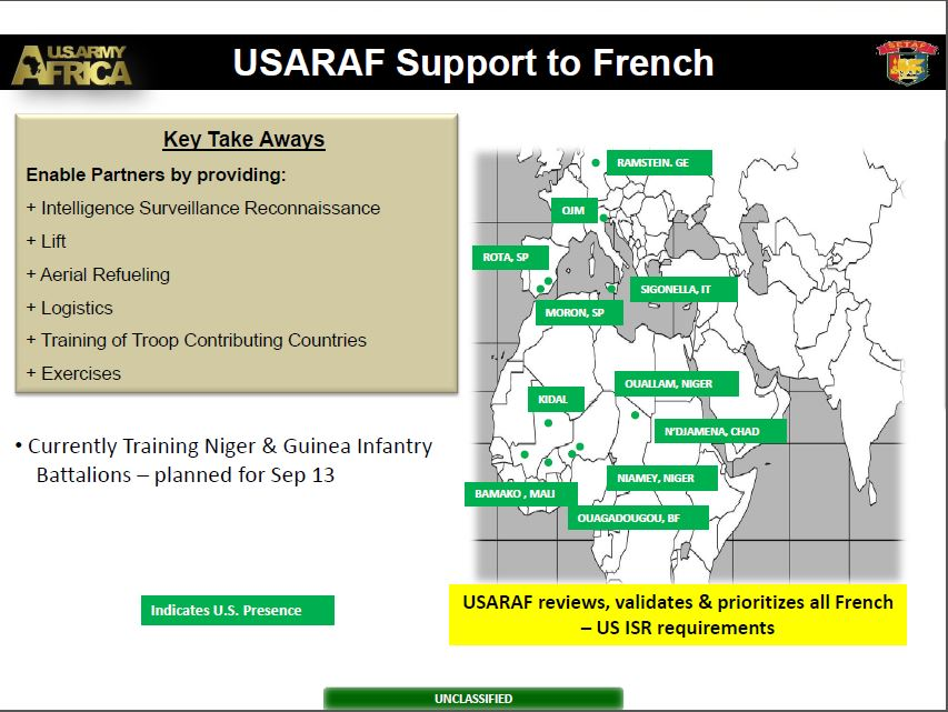 U.S. Army Africa briefing slide from 2013 obtained by TomDispatch via the Freedom of Information Act.