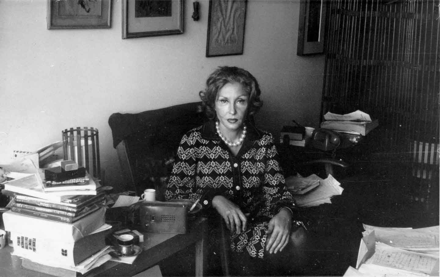 Clarice Lispector at home in Rio de Janeiro in the 1970s.