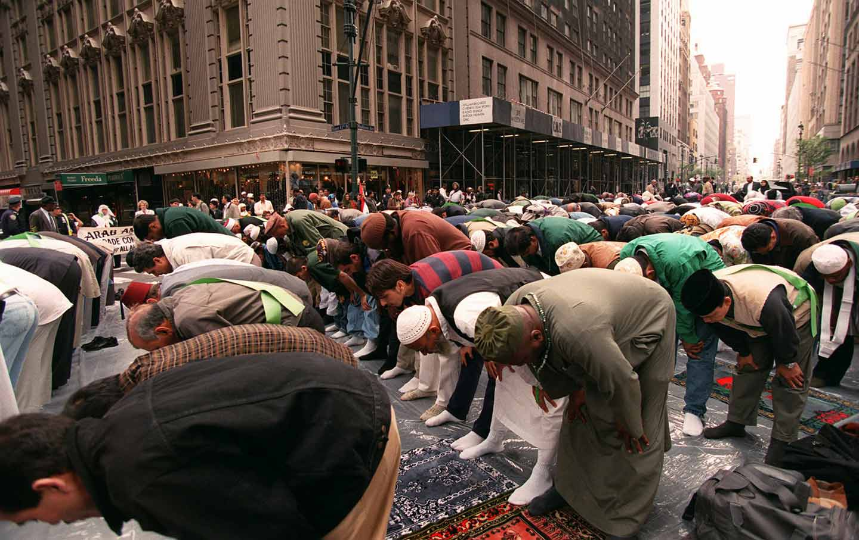 Muslims pray on Madison Avenue