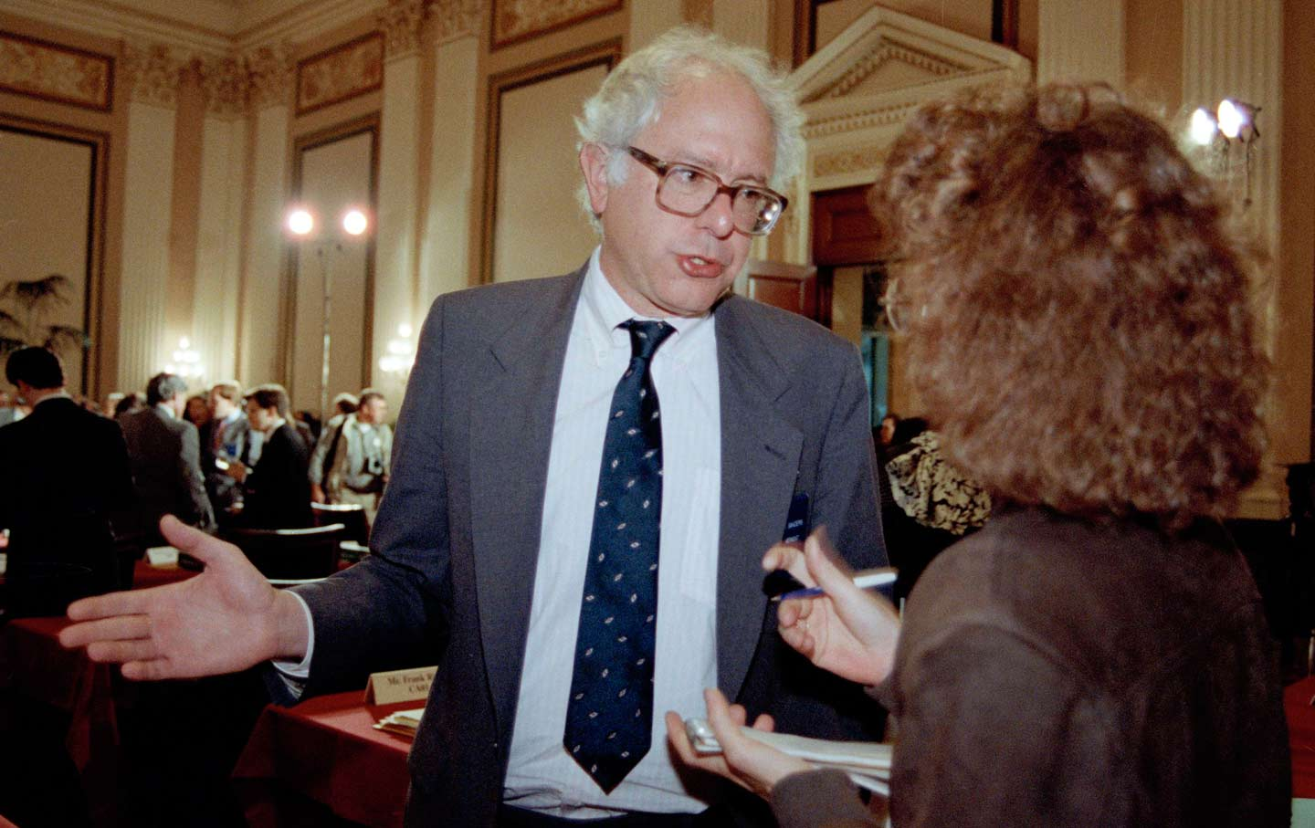 Representative-elect Bernie Sanders at an orientation for Congressional freshmen, November 28, 1990.