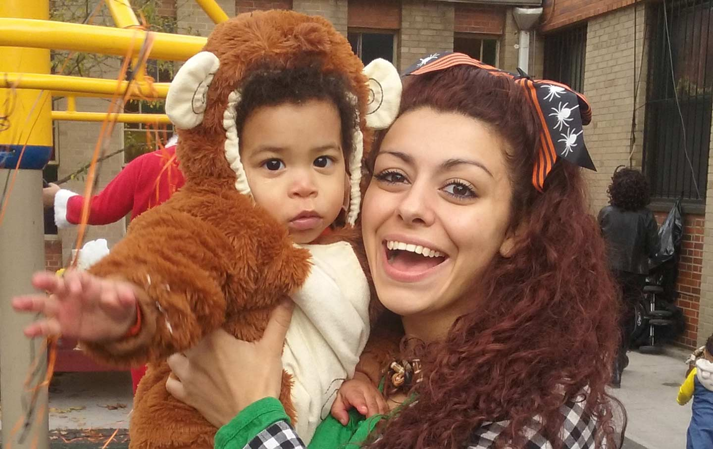 stephanie reis and her son celebrating halloween october 31 2015 victoria law