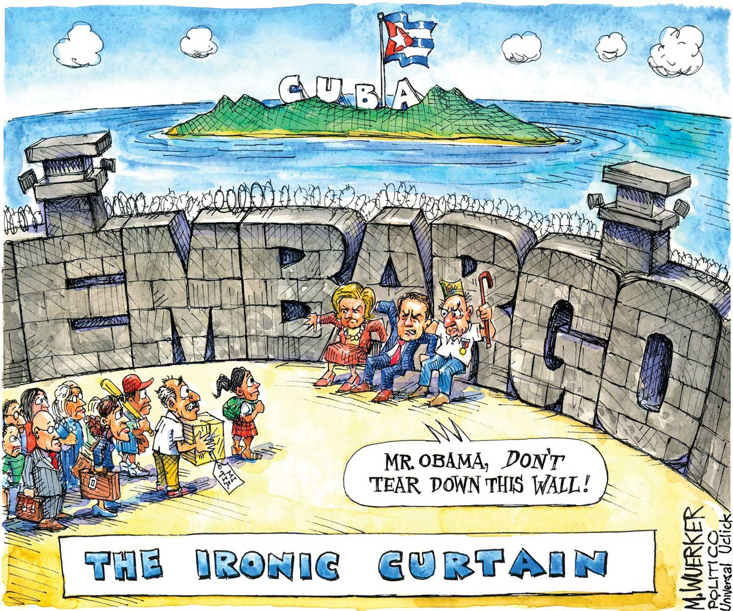 Iron curtain political cartoon - Why Us Cuba Normalization Is Accelerating