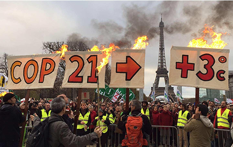 Protestors at COP 21