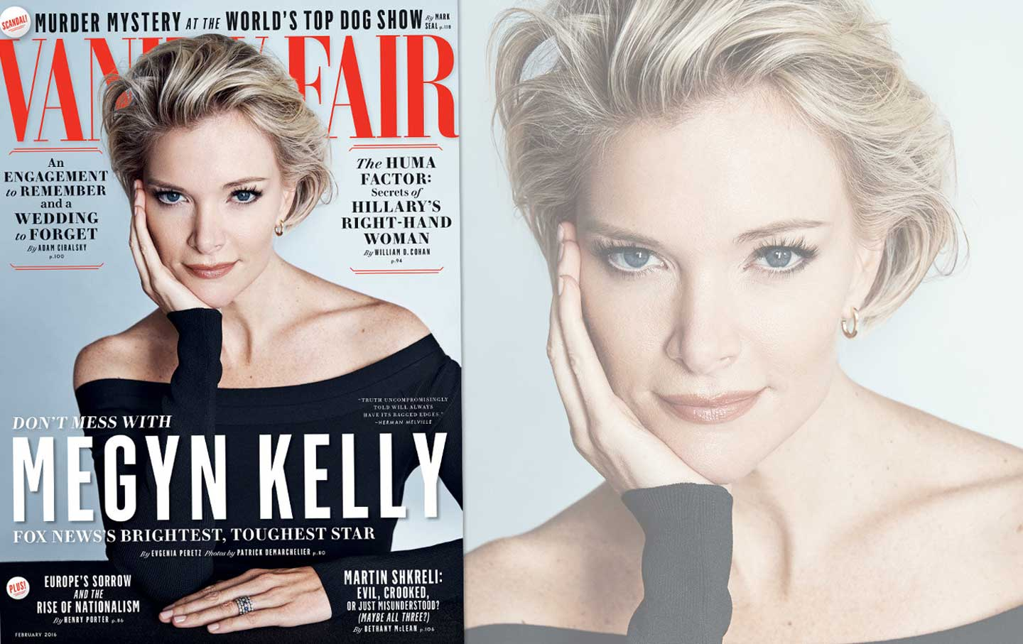 Megyn Kelly on the cover of February's Vanity Fair