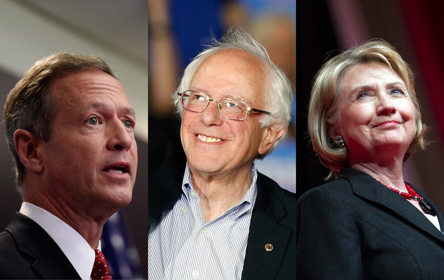O'Malley, Sanders and Clinton