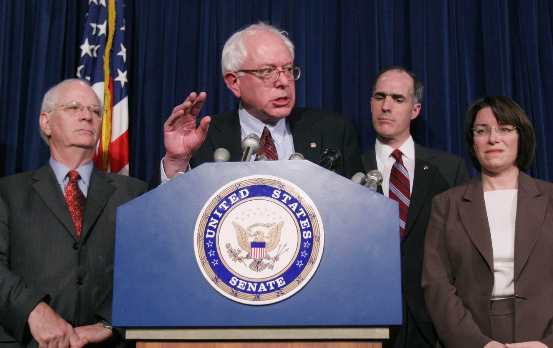 Bernie Sanders speaks out against Iraq.