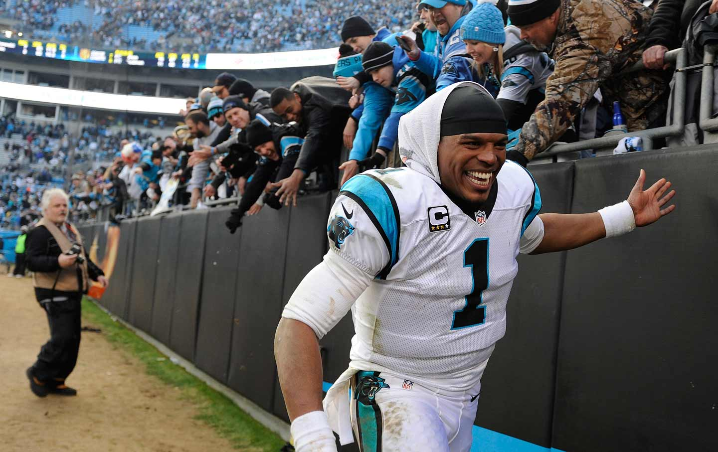 Cam Newton Celebrating