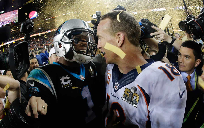 Cam Newton and Peyton Manning