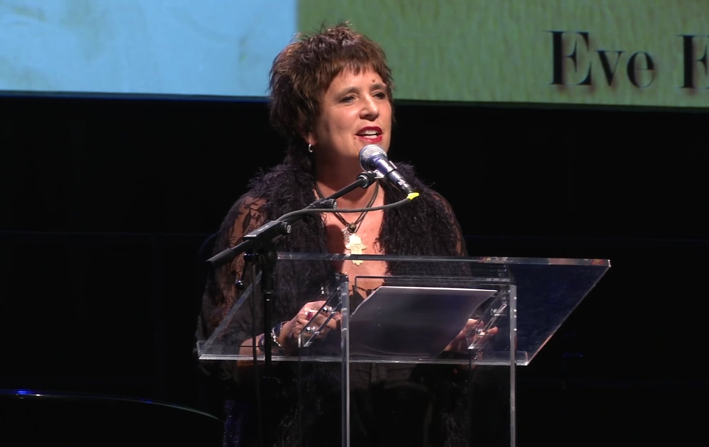 """eve ensler Eve ensler, sharing her experience of illness in the one-woman show """"in the body of the world"""" credit sara krulwich/the new york times eve ensler has a word she wants you to get."""