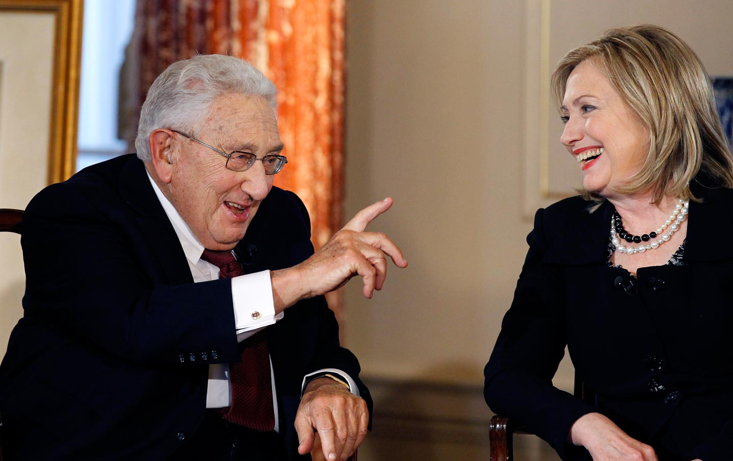 Image result for hillary and kissinger on politics