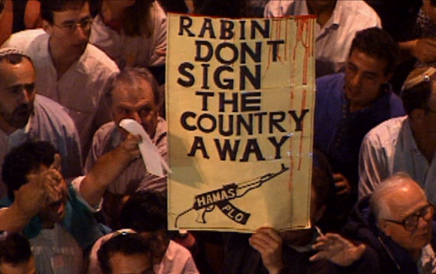 A scene from Rabin, the Last Day.