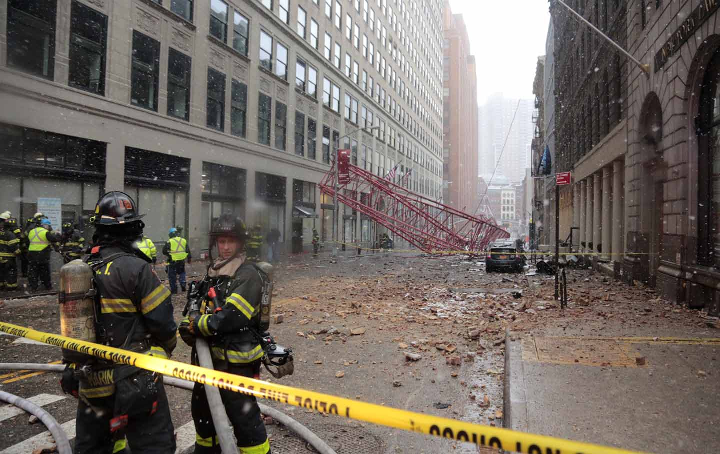 Crane collapse
