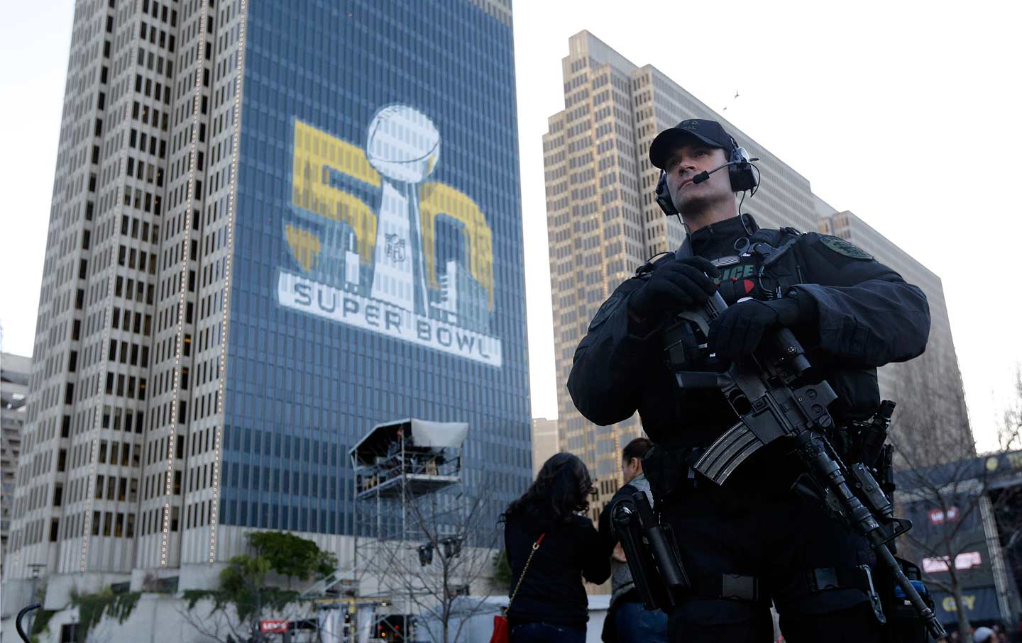 Police at Super Bowl City