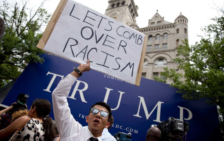 Trump Hotel Protest